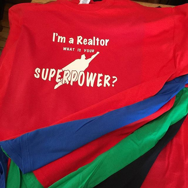 Shipping 11 Realtor t-shirts in various colours today #Realtor #Superpower #realestateagent #customtshirt #MadeByGramps at #chubtown