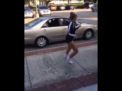 white Girl dances on juju on that beat song better angle (part 2 ) - YouTube