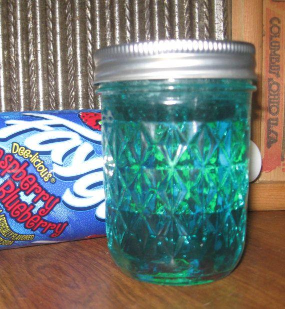 Faygo Soda Jam- made from Faygo Raspberry Blueberry Soda Pop. I'm thinking grapico or buffalo rock.