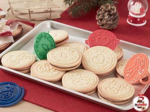 Biscuits de Noël fourrés au Nutella® - Recette de cuisine Marmiton : une recette