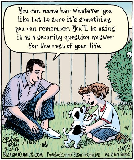 Dog Humor: Puppy's name.
