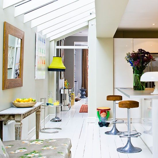 Light bright eclectic kitchen