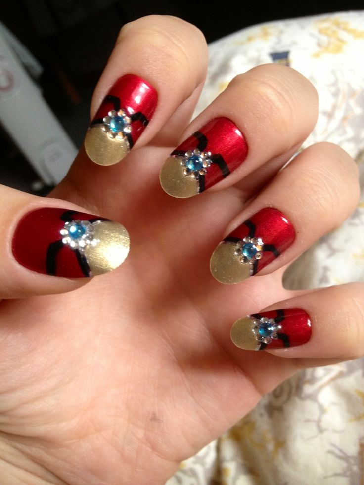 iron man nails! <3