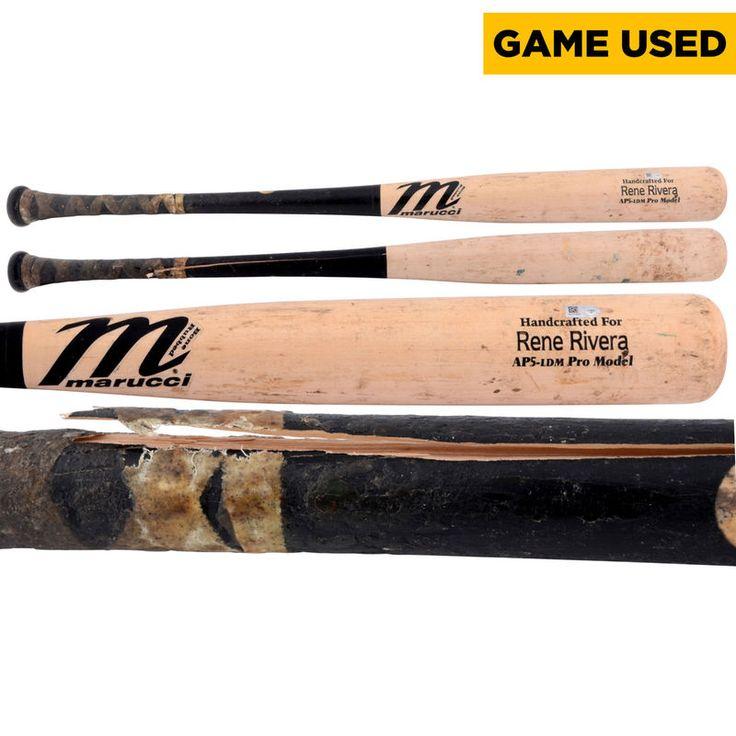 Rene Rivera San Diego Padres Fanatics Authentic Game-Used Broken Marucci Bat vs Los Angeles Dodgers on June 21, 2014