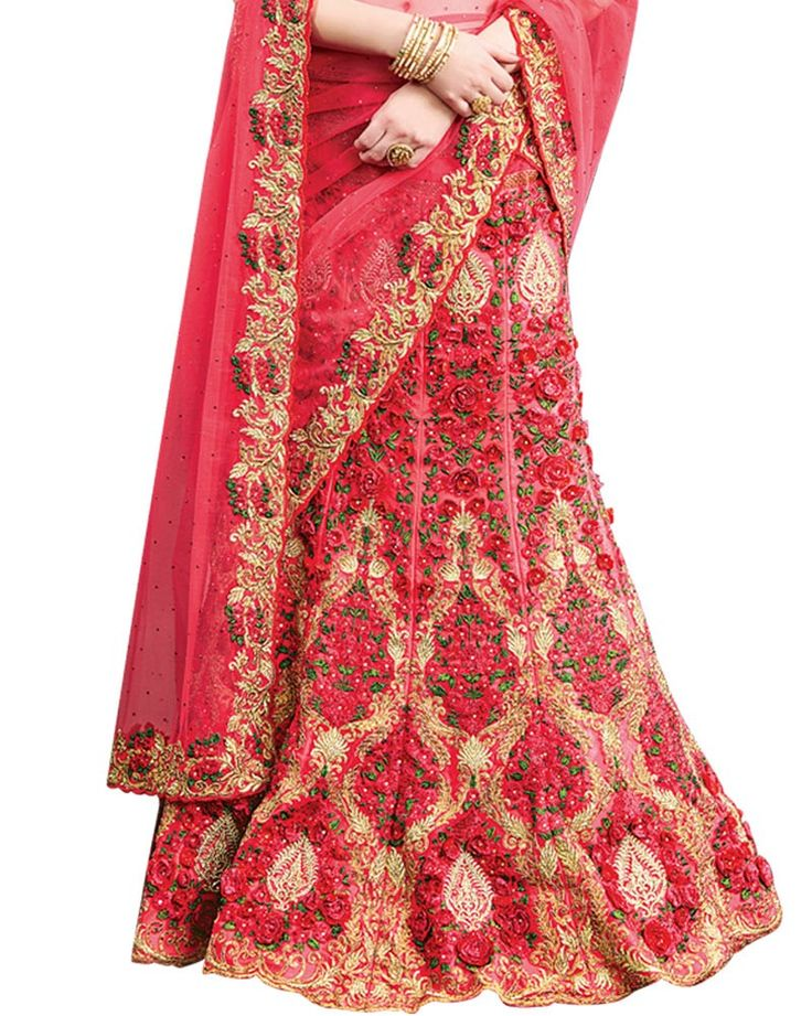 Celebrate Indian Crafts With A Contemporary Panache With This Fabulous Fancy Collection From Simaaya Fashions. You Will Be Able To See Some Intriguing Patterns Completed With Zari, Resham, Stone And 3D Flower.  Exclusive get this at- http://www.simaayafashions.com/fancy-net-lehenga-in-peach-vnd20958  #lehenga #sale #onlineshopping #simaayafashions