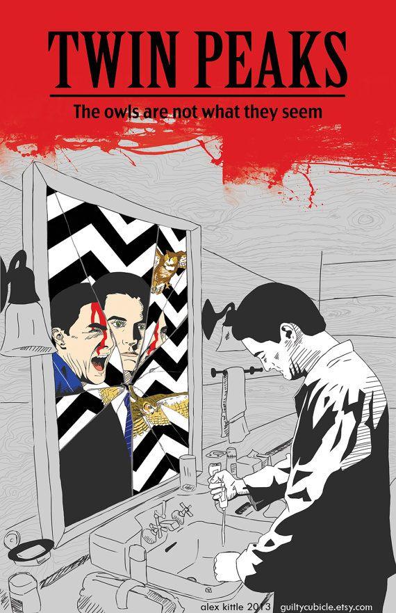 Twin Peaks Original Poster | by guiltycubicle on Etsy | #Twin_Peaks