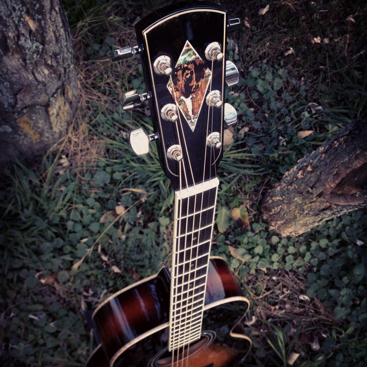Custom Inlay work on headstock of Larrivee Parlor guitar.  Just gorgeous!