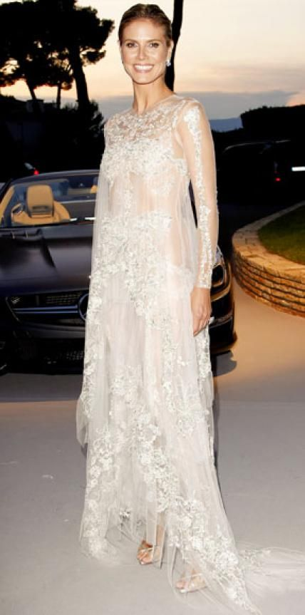 May 2017 Heidi Klum Editor S Choice What She Wore Turned Heads In An Embellished Gown And Silver Sandals At Amfar Cinema Against Aids Gala