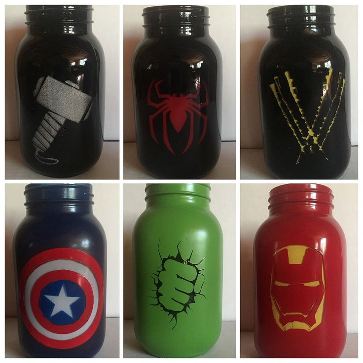Superhero Mason Jars
