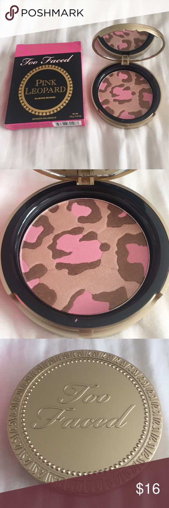 """Too Faced blushing bronzer Too Faced blushing bronzer. Never been used, still in packaging. In the shade """"pink leopard."""" Too Faced Makeup Bronzer"""