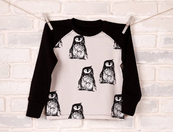 Penguin costume shirt organic cotton bird costume by IndigoUA