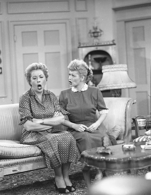 Lucille Ball As Lucy And Vivian Vance As Ethel I Love