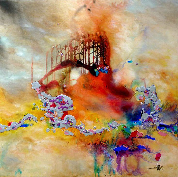 technique de peinture abstraite acrylique superposer - Recherche ...