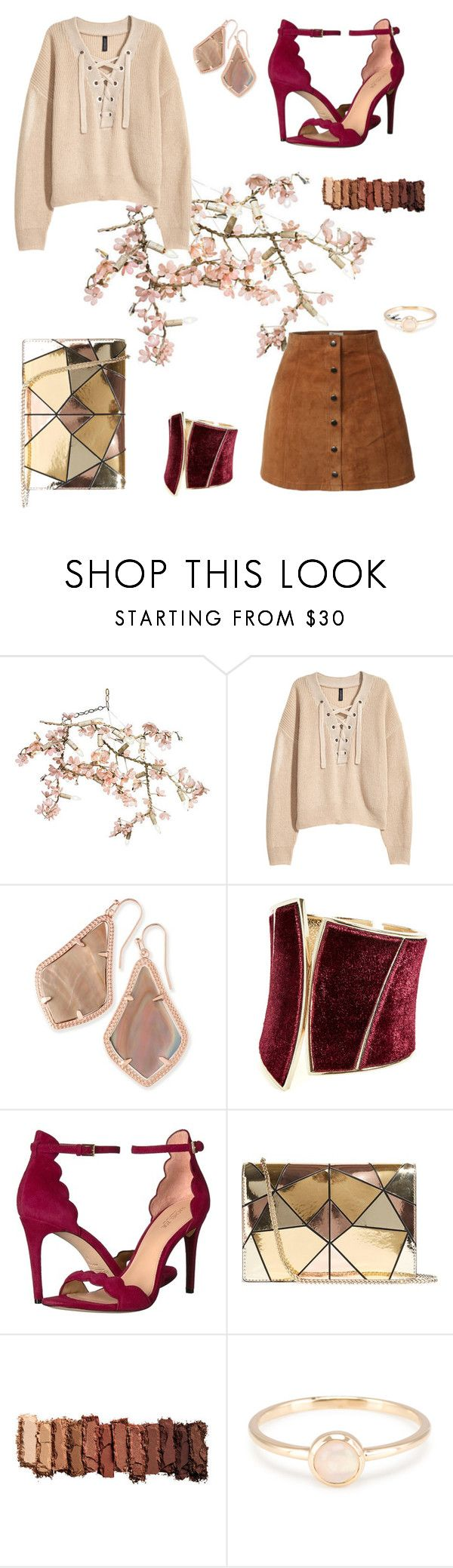 """Untitled #30"" by scodinoa ❤ liked on Polyvore featuring Canopy Designs, H&M, Kendra Scott, GUESS by Marciano, Rachel Zoe, Karen Millen and Urban Decay"