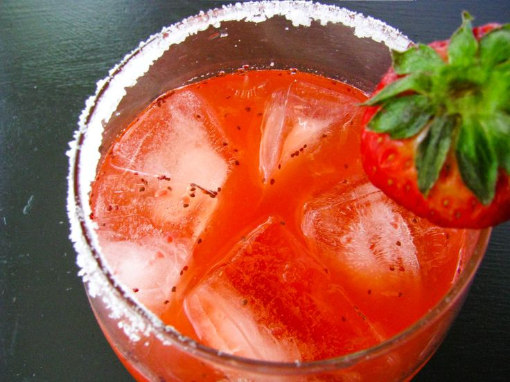 strawberry jalapeno margarita-had these in @ a restaurant in Jackson Hole they are so good