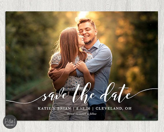 Save the Date Photo Invitation / DIY / by paperandinkdesignco