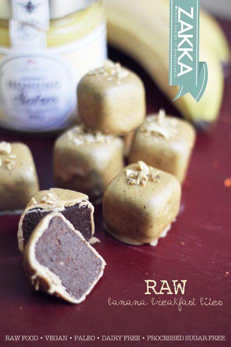 Raw Banana Breakfast Bites – RECIPE | ZAKKA – sweet design of Scandinavia  • raw food, raw sweets, vegan, paleo, dairy free and processed sugar free