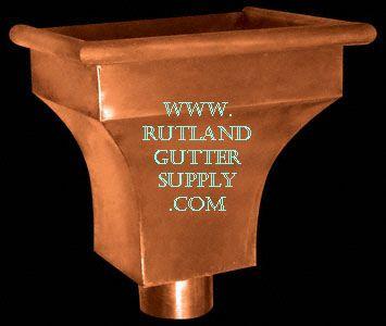 Collector Box Rain Head Shown Here As Copper Gutter