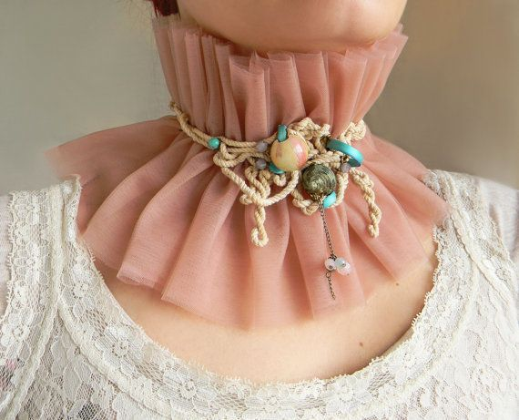 Eco Chic Ruffle Collar High Neck Corset Layered Tulle by Elyseeart