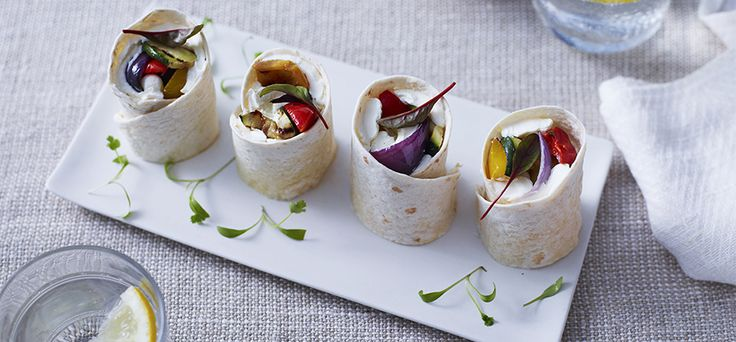 Philadelphia Recipe - Roasted Vegetable and Philly Wraps