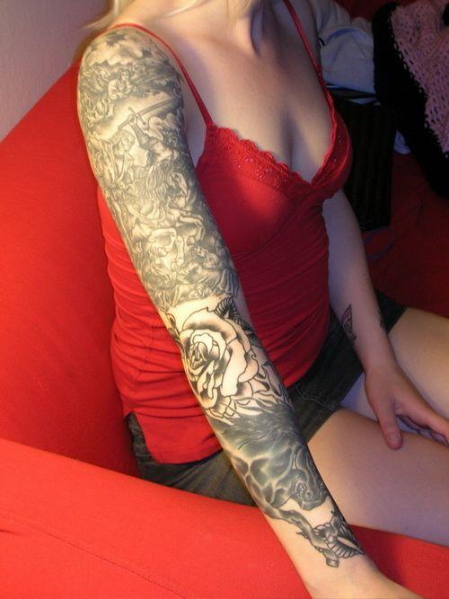 sleeve tattoos for girls Odd Girl Sleeve Tattoos