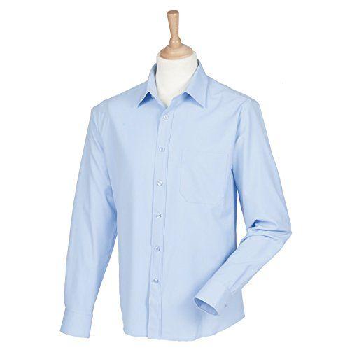 172 kr.  Henbury Antibacterial Long Sleeve Mens Shirt - Light Blue... https://www.amazon.co.uk/dp/B00K77I57Q/ref=cm_sw_r_pi_dp_x_HSR4xbDZ5007W