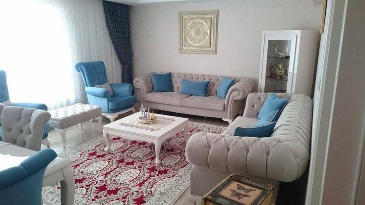 Ankara'dan el emeği aksesuarlar ve modern mobilyalara tezat, orijinal ve nostaljik motiflerle dekore edilmiş Seval hanımın evine misafiriz..