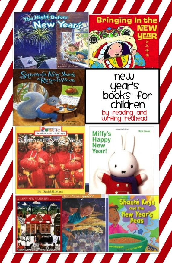 New Year's Book ideas for children! What is your favorite?! Good resource if you are looking for a read aloud for after Christmas vacation.  For more posts like this check out my blog at www.readingandwritingredhead and sign up for my free newsletter: eepurl.com/DFyuj