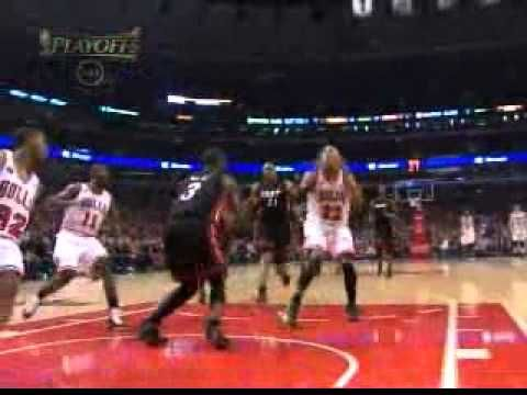 Chicago Taj Gibson dunks over Dwayne Wade AND1 game 1