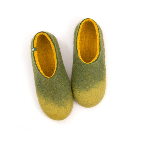 House slippers for women, felted slippers, merino wool slippers, wool clogs slipper shoes, indoor shoes ombre slippers, gift ideas for women