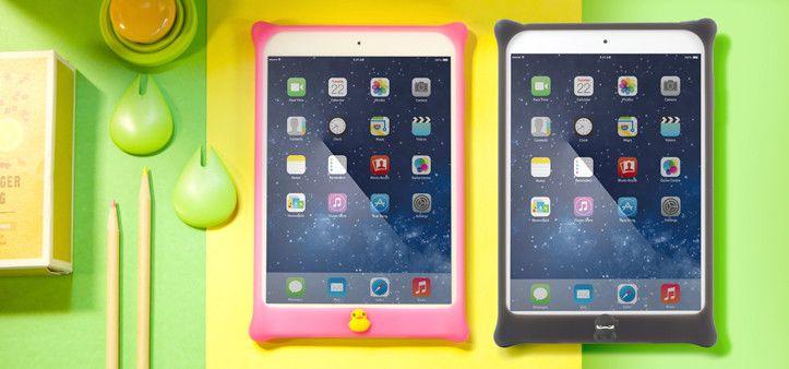 Protege tu iPad con éste excelente case hecho en silicona. A demás, es 100% biodegradable y está disponible en los colores azul, negro, verde, morado, rosado, rojo, blanco y amarillo.