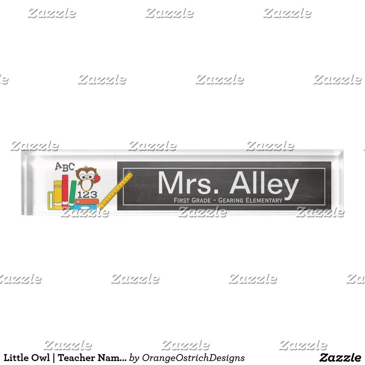 Little Owl | Teacher Name Plate