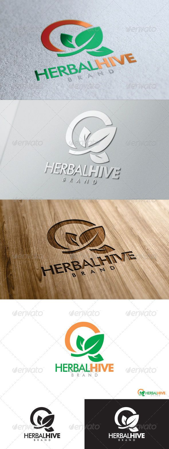 Herbal Hive Logo  #GraphicRiver