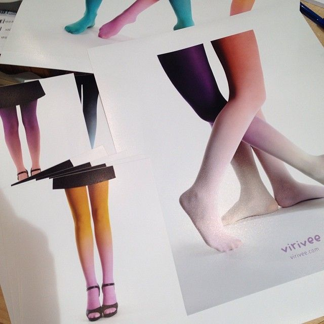 Verve prints #tights #virivee #ombre #print #photo