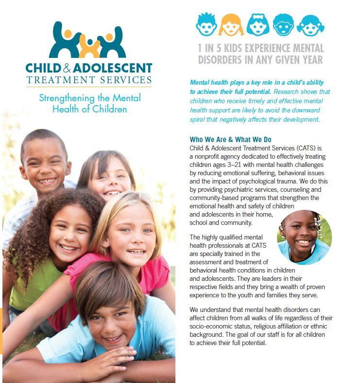 Child \ Adolescent Treatment Services general brochure   - services brochure