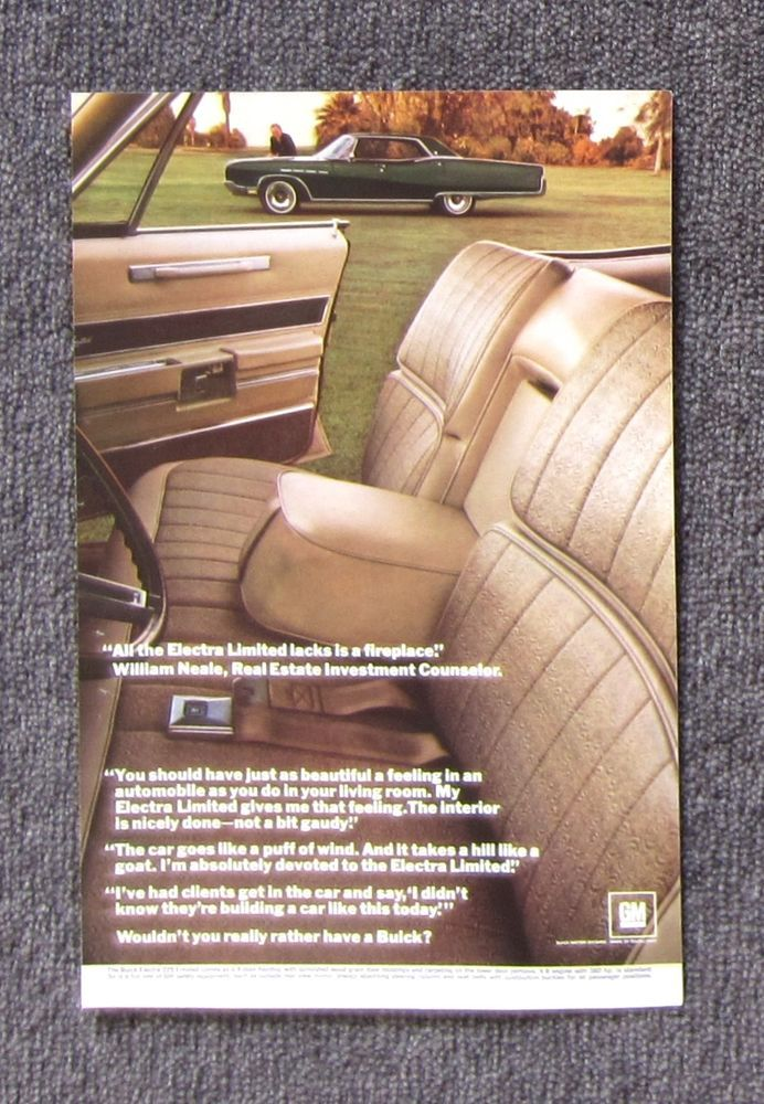 BUICK ELECTRA LIMITED Vintage Auto Magazine Page Sales Ad Advertisement Brochure #BUICK #MagazineAdvertisement