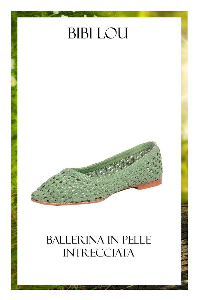 PER LEI: BIBI LOU - Ballerina in pelle intrecciata verde http://www.mengotti-online.com/donna/bibi-lou-ballerina-11875.html