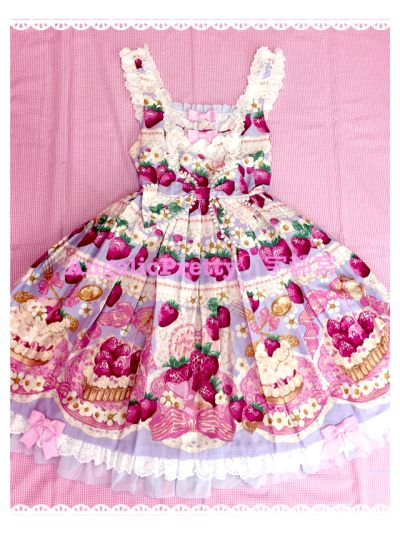 Angelic Pretty Strawberry Whip Lavender JSK - Never thought I'd have a dream dress but wow! This is the ONE!