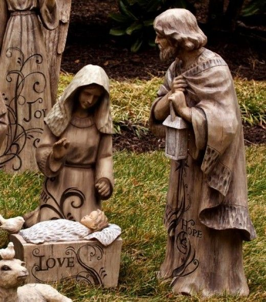 ✧ Large outdoor Holy Family figurines ✧
