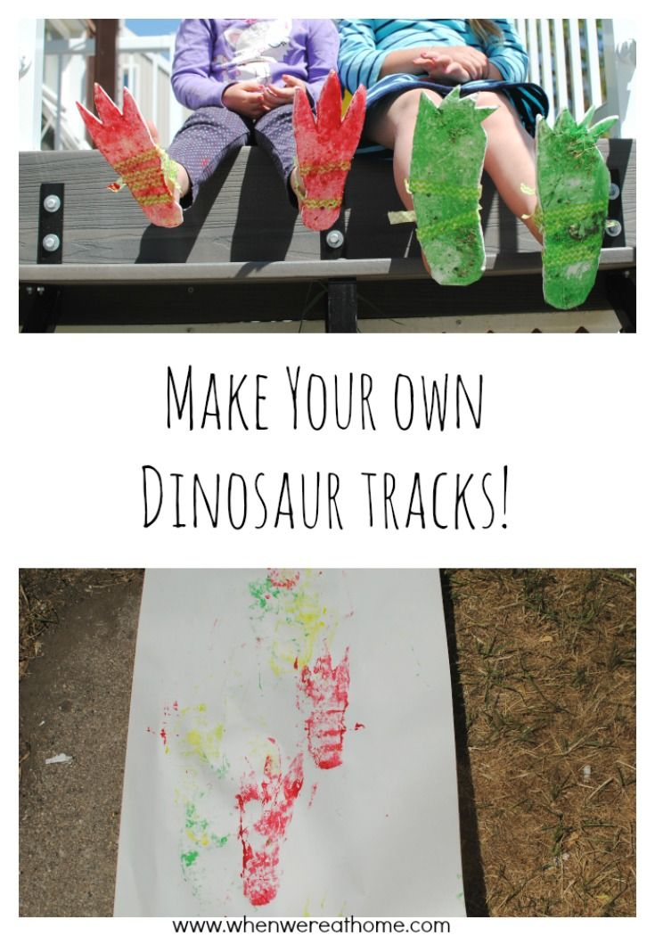 Dinosaur Activities: Make Your Own Dinosaur Tracks!