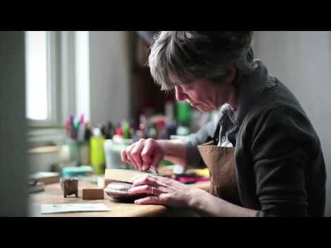 Angie Lewin - Printmaker - I really admire Angie Lewin's work and it's great to see her in action.