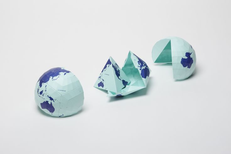 The map addresses some fundamental misconceptions about the world—and folds into a nice origami globe.