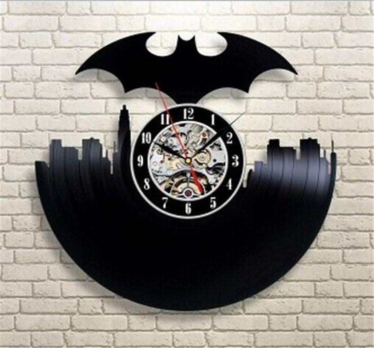 Batman City Vinyl Record Wall Clock