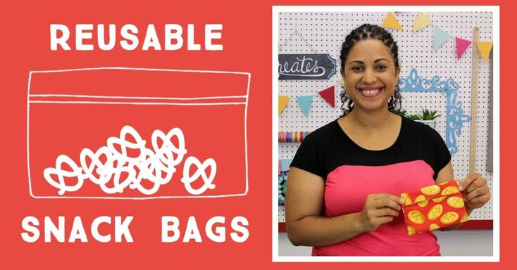 Go Green! Make Your Own Reusable Snack Bags And Cut Back On The Plastic!