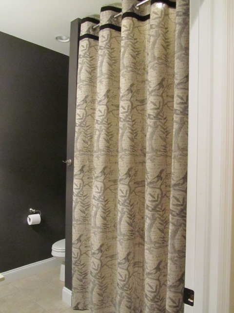 37 best custom made shower curtains images on pinterest for Double width curtain lining