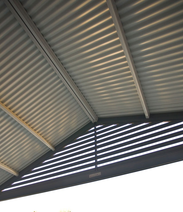 Pergolas Plus Outdoor Living : Colorbond Roofs Dark Coloured Gable Infill