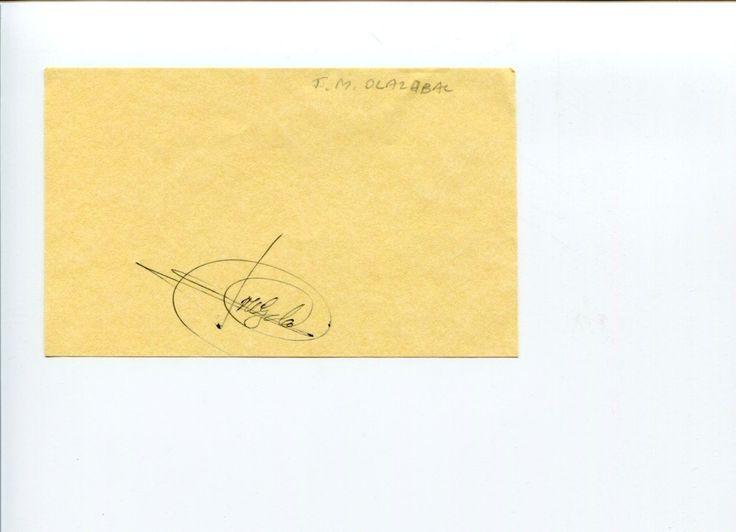 Jose Maria Olazabal PGA Masters Golf Ryder Cup Champ Signed Autograph