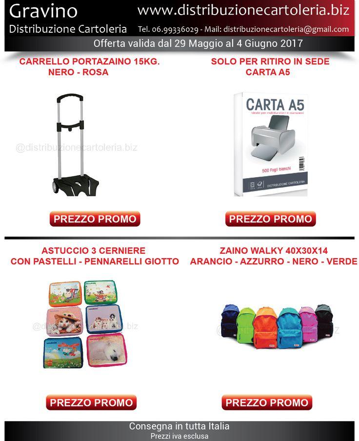 PRODOTTI DELLA SETTIMANA! In offerta dal 29 Maggio al 4 Giugno - Consegna in tutta Italia! Per vedere i prezzi clicca qui: http://shop.distribuzionecartoleria.biz/specials.html