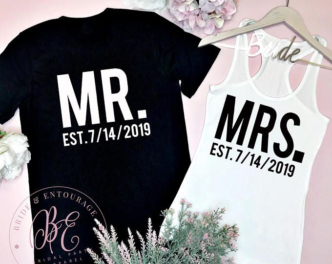 db438e9334e Mr and Mrs Couples Shirts. Honeymoon Shirts. Just Married Shirts. Wedding  Couples Tees. Bride and Groom Shirts. Bridal Shower Gift.