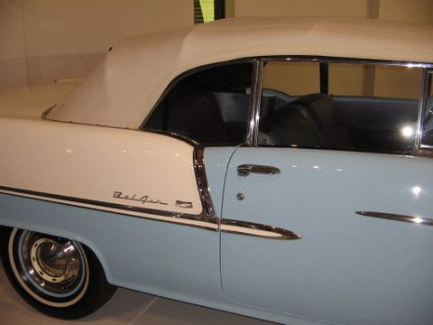 1955 Chev Bellair at the Franschhoek Motor Museum, Cape Town